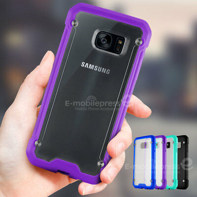 For Samsung Galaxy S7 edge Slim Clear Matte Back Hybrid Rugged Bumper Case Cover