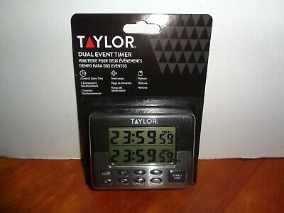 Timer Dual Event Clock Date LCD Digital Display Taylor Precision Magnetic Back