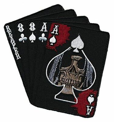 Tactical Dead Man's Hand Grim Reaper Embroidered Patch