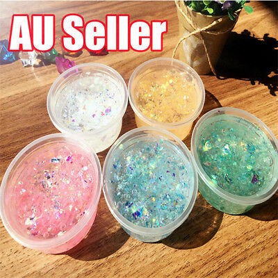 Mermaid Clear Glitter Slime Kids Toy Stretchy Best Quality, Slimes EA