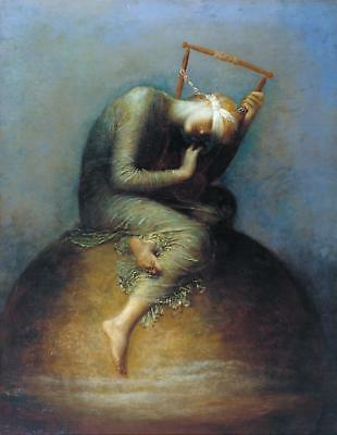 Handmade Oil Painting repro  George Frederic Watts Hope
