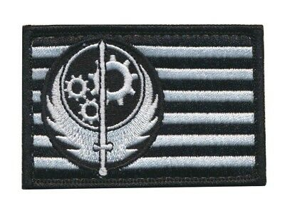 Patch Squad Men's Fallout Style Brotherhood of Steel BOS Patch (Black & White)