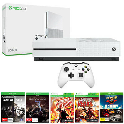 Xbox One S 500GB with 6 Games Console Bundle NEW