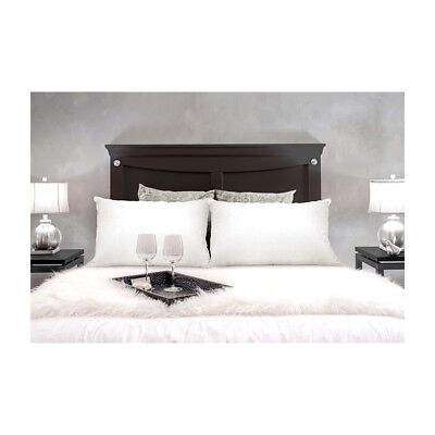 New Royal Comfort Goose Down Feather Pillow Twin Pack White