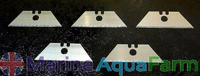 BLADE AQUARIUM GLASS ALGAE SCRAPER CLEANER REPLACEMENT BLADES x 5, REEF, CORAL
