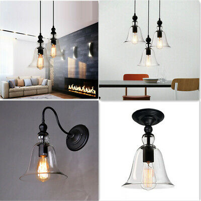 Glass Pendant Light Kitchen Swing Arm Wall Lamp Room Flush Mount Ceiling Lights