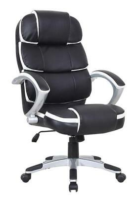 Executive Luxury Computer Office Desk Chair PU Leather Swivel Adjustable Chair