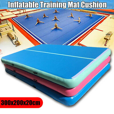 Updated Smooth Air Track Floor Home Inflatable Gymnastics Tumbling Gym Mat Pump