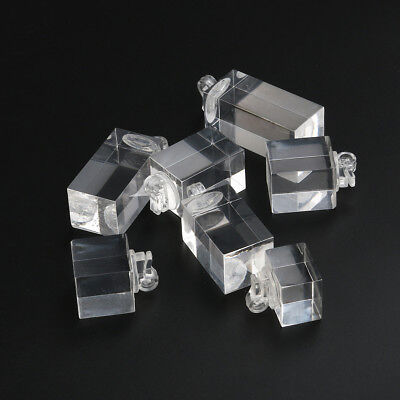 7pcs Clear Acrylic Cube Jewelry Ring Earrings Display Stand Holder Showcase