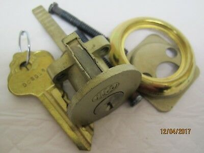 lock cylinder vintage Ilco brass two keys,new in box.