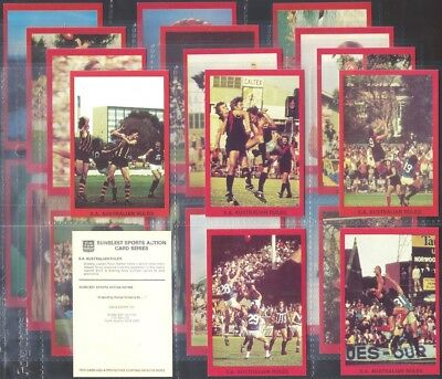 Sunblest (Bread Australia)-Full Set- Sports Action Series (M24 Cards) - Exc+++
