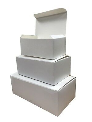 White Rectangular Boxes - Fast Food Cardboard Takeaway Box - Cake Shop Packaging