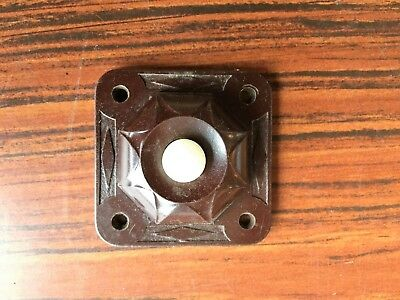 Vintage Leviton Bakelite Push Button Door Bell Brown