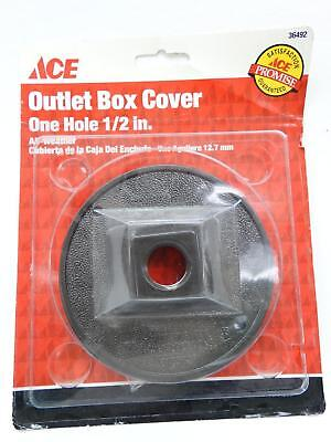 """NEW Ace 36492 Bronze Round One Hole 1/2"""" All Weather Outlet Box Cover"""