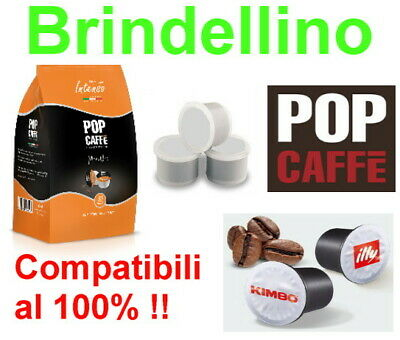 300 Capsule Caffe Pop Tostatura Scura Compatibili Uno System Indesit Kimbo Illy