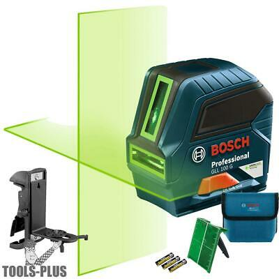 Bosch Tools GLL 100 GX-RT Self-Leveling GREEN-BEAM Cross-Line Laser New