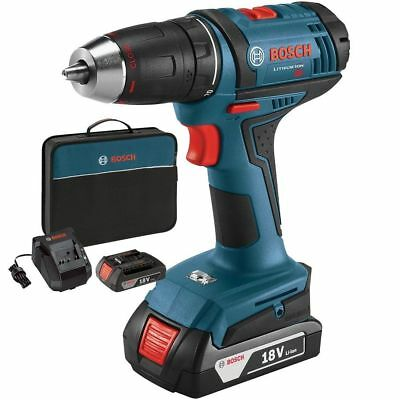 "Bosch Tools DDB181-02-RT 18V Li-Ion 1/2"" Compact Tough 2-Battery Drill/Drive"