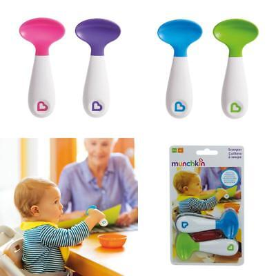 Baby Starter Spoons 2pack Munchkin Infant Trainer Self Feeding Scoop Spoon NEW