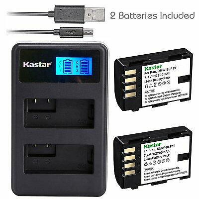 DMW-BLF19 Battery & LCD Dual Charger for Panasonic Lumix GH4H GH4A DC-G9 DC-GH5