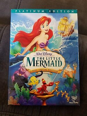 Disney's THE LITTLE MERMAID Special Platinum Edition 2-Disc DVD Set RARE & OOP