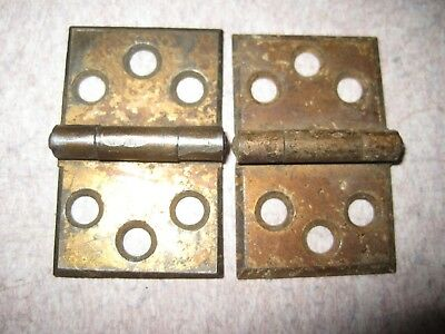 Antique Victorian interior Shutter Hinges brass / bronze plated 1 1/16 x 1 3/4