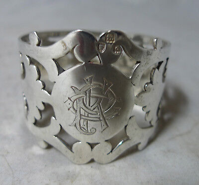 Victorian Pierced Silver Napkin Ring London 1899 34g A633317