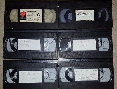 Job Lot of 18 Blank VHS Video Cassette Tapes mixed tv recordings documentaries
