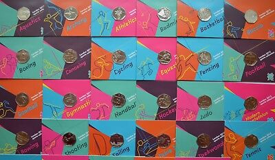 2012 London Olympic Games 50p Sports Collection Uncirculated Football, Judo