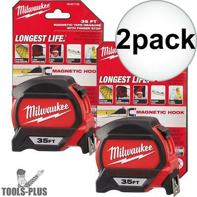 Milwaukee 48-22-7135-2 2x 35' Magnetic Tape Measure New