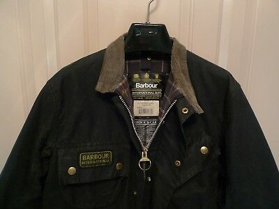 Barbour- A7 International Suit  Waxed Cotton Jacket-Shortened Sleeves-Made@uk-38