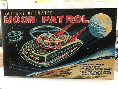 Moon Patrol Battery Operated Space Tank In Working Condition With Box