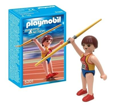 PLAYMOBIL #5201 SPORTS /& ACTION JAVELIN THROWER NEW IN BOX