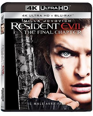 RESIDENT EVIL - The Final Chapter (4K Ultra HD + Blu-Ray Disc) - BLU RAY NUOVO