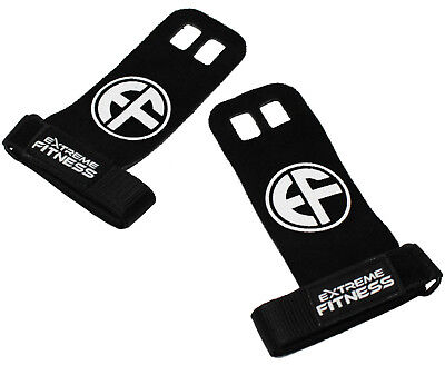 Extreme Fitness® Hand Grips Crossfit Gymnastics Lifting Leather Palm Protectors