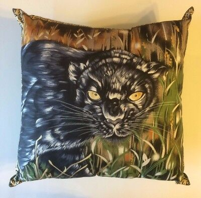 NEW 15 x 15 BLACK PANTHER CAT COMPLETE WILDLIFE THEME PILLOW - GREAT GIFT!