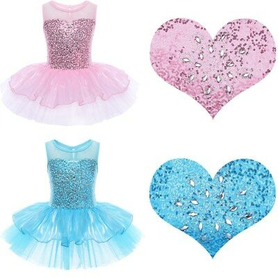 Girls Kid Ballerina Costume Skirt Ballet Dance Wear Leotard Gym Tutu Tulle Dress