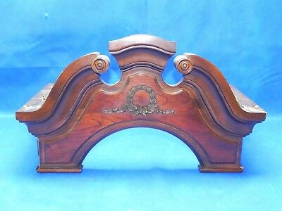 Vintage PEARL Grandfather Clock Upper Case Body Wooden Parts