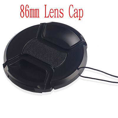 86mm Centre-Pinch Snap On Lens cap  Front Cover Clips for Nikon Canon Sony
