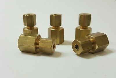"Pack of 5. 1/8"" Female NPT x 1/8"" OD Tube Compression Fitting."
