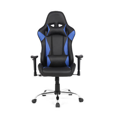 Moustache® Top Gamer Ergonomic Racing Gaming Chair Computer Video Game Chairs