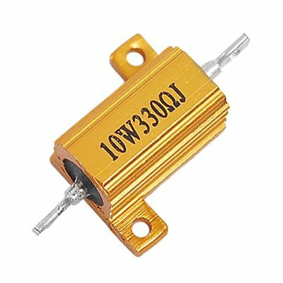 10W Power 5% 330 Ohm Aluminum alloy Wire Wound Resistor Gold B8U6 X5Q4