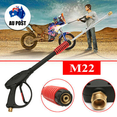 4000PSI M22 89cm  High Pressure Washer Spray Gun + Extension Wand Nozzle Kit Set