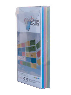 SIMPLY NOTES by Folio Contact, Haftnotizen,10 x  20 cm, 500 Blatt, 5 Farben