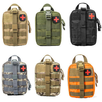 Outdoor Travel Tactical Emergency Medical First Aid Kit Bag Survival Pack Pouch