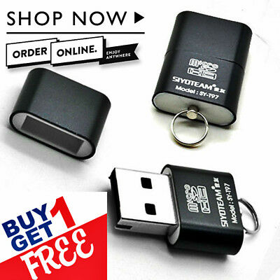 Micro SD Supported USB 2.0 T-Flash Mini Card Reader Adapter UK Seller