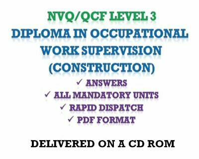 NVQ Level 3 Diploma in Occupational Work Supervision Answers *CD ROM*