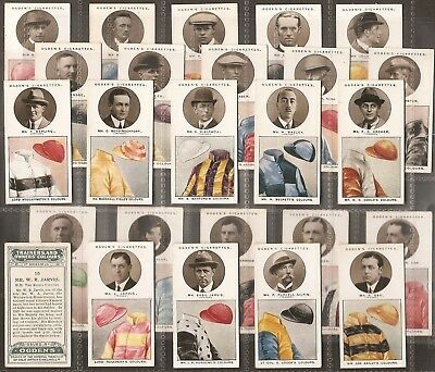 Ogdens-Full Set- Trainers & Owners Colours (1St Series 25 Cards) - Exc