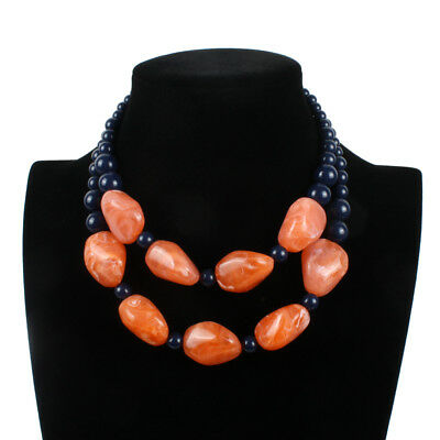 New African Bead Statement Necklace Fashion Resin Bead Ethnic Party Jewelry Sets