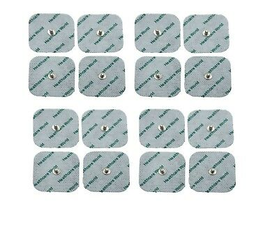 Square Stud Tens Electrode Pads 5 x 5cm Pack of 16 Adhesive Long Life Gel Pads