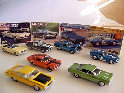 Johnny Lightning lot of 7 Used Loose: 1/64 Car's Playing Mantis FORD, Muscle